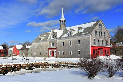 Photograph - Shelburne, Nova Scotia In Winter by Gary Corbett