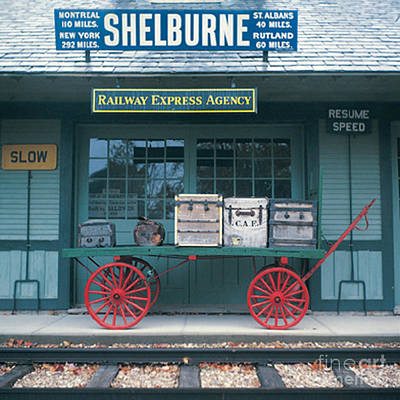Photograph - Shelburne Vermont Railway Station by Merton Allen