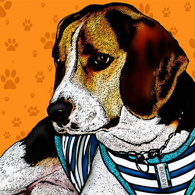 Dog Pop Art Photograph - Shelby by Bibi Romer