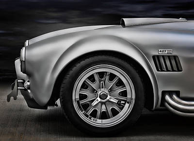 Silver Digital Art - Shelby Cobra Gt by Douglas Pittman