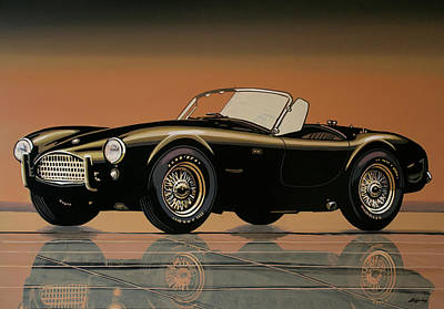 Painting - Shelby Cobra 1962 Painting by Paul Meijering