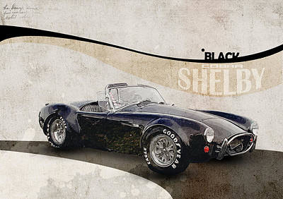 Drawing Digital Art - Shelby Cobra by Yurdaer Bes