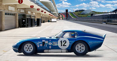 Cobra Digital Art - Shelby Daytona Coupe by Peter Chilelli