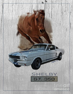 Photograph - Shelby Gt350 by Tom Griffithe