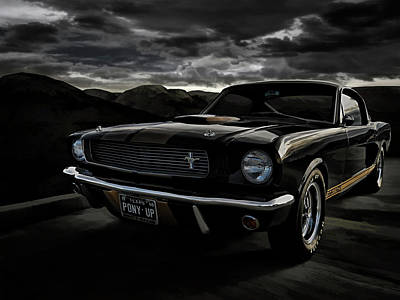 Mustang Digital Art - Shelby Gt350h Rent-a-racer by Douglas Pittman