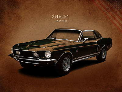 Classic Mustang Car Photograph - Shelby Mustang Exp 500 by Mark Rogan