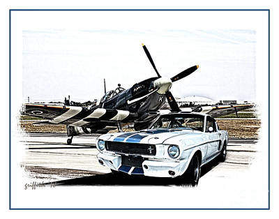 Photograph - Shelby Mustang Gt 350 by Tom Griffithe