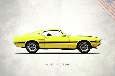 Car Photograph - Shelby Mustang Gt350 1969 by Mark Rogan