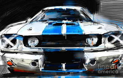 Mustang Gt350 Painting - Shelby Mustang by Peter Fogg