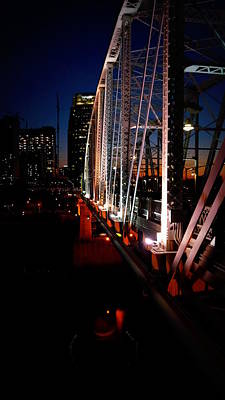 Shelby Street Bridge In Lights Original by Laurie Pike