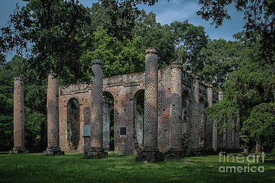 Photograph - Sheldon Ruins - Beaufort County  by Dale Powell
