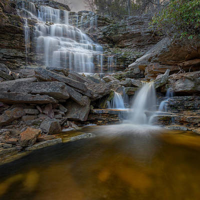 Cascades Photograph - Sheldons Falls Square by Bill Wakeley