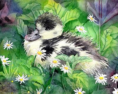 Goslings Painting - Shelduck Chick by Tammy Crawford