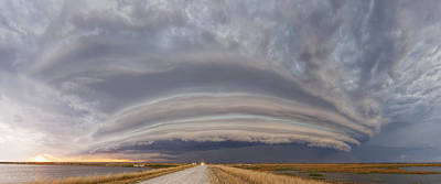 Photograph - Shelf Cloud Over Cheyenne Bottoms by Rob Graham