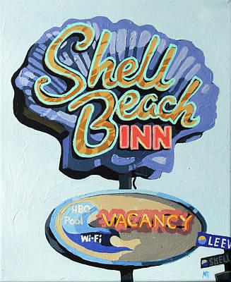 Shell Beach Inn Painting - Shell Beach Inn by Melinda Patrick
