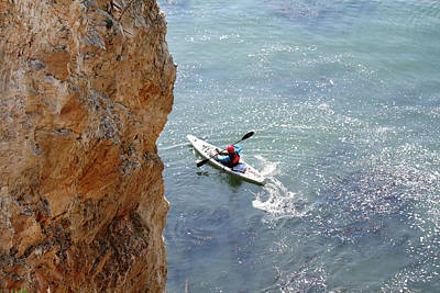 Photograph - Shell Beach Kayaker by Art Block Collections