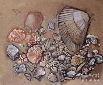 Painting - Shell Collection by Mary Hubley