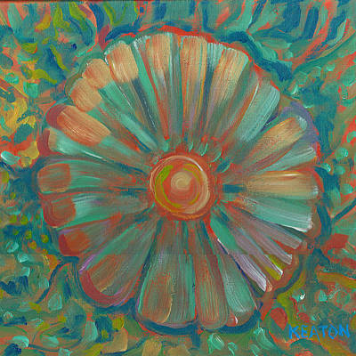 Print featuring the painting Shell Flower by John Keaton