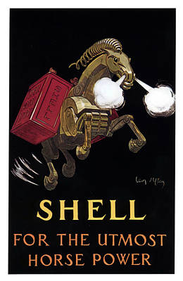 Mixed Media - Shell - For The Utmost Horse Power - Vintage Advertising Poster by Studio Grafiikka