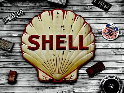 Shell Gas Art Print