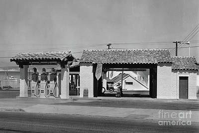 Photograph - Shell Gas Station Near Fishermans Wharf Monterey by California Views Mr Pat Hathaway Archives