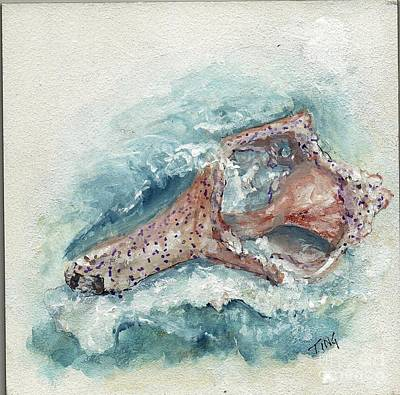 Painting - Shell Gift From The Sea by Doris Blessington