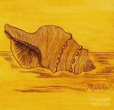 Seashell Drawing Painting - Shell In The Sun by Marsha Heiken