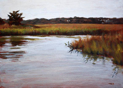 Painting - Shell Island Marsh by Christopher Reid