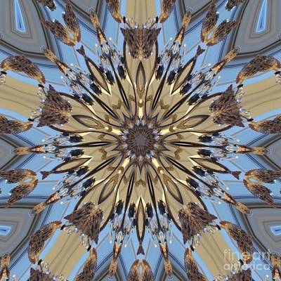 Digital Art - Shell Lamp Kaleidoscope by D Hackett