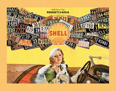 Photograph - Shell Oil Ad 1933 by Andrew Fare