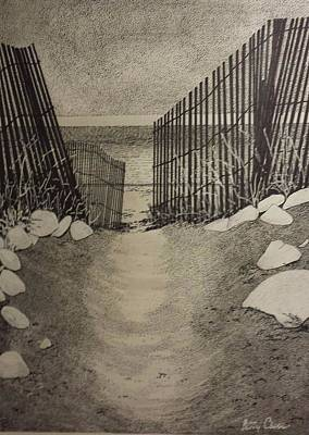 Drawing - Shell Path by Betsy Carlson Cross