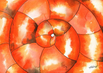 Painting - Shell Shock Watercolor by Kristen Fox