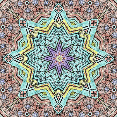 Digital Art - Shell Star Mandala by Deborah Smith