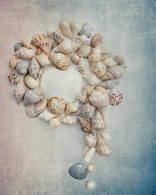 Photograph - Shell Wreath by Rebecca Cozart