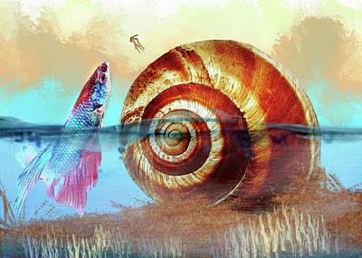 Shell Fish Art Print
