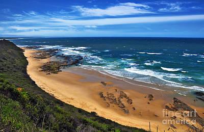 Beach Scenes Photograph - Shelley Beach - Australian Coastline by Kaye Menner