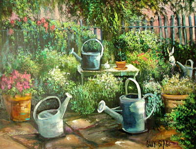 Shelley's Garden Art Print by Sally Seago