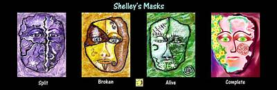 Digital Art - Shelley's Masks by Shelley Bain