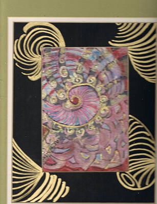 Shells And Golden Rings Art Print by Anne-Elizabeth Whiteway