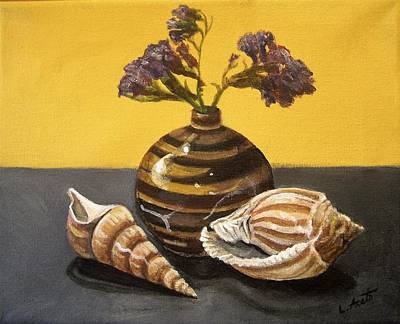 Painting - Shells And Stripes by Laura Aceto