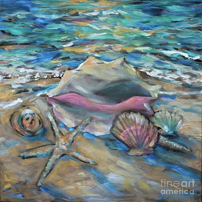Painting - Shells At Tide by Linda Olsen