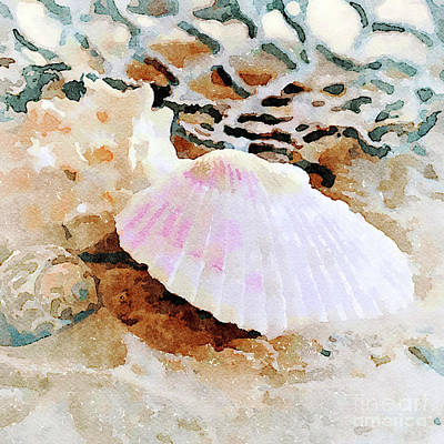 Digital Art - Shells by Betty LaRue