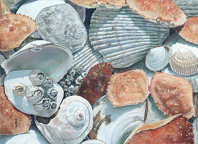 Painting - Shells Of The Puget Sound by Nick Payne