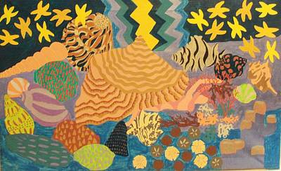 Art Print featuring the painting Shellshocked by Erika Chamberlin