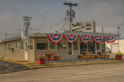 Photograph - Shellys Route 66 Cafe Cuba Mo Dsc05554 by Greg Kluempers