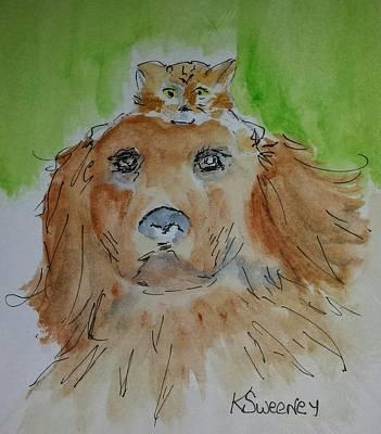 Shelter Friends Art Print by Kathy Sweeney