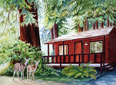 Painting - Shelter In The Redwoods by Beverly Martin
