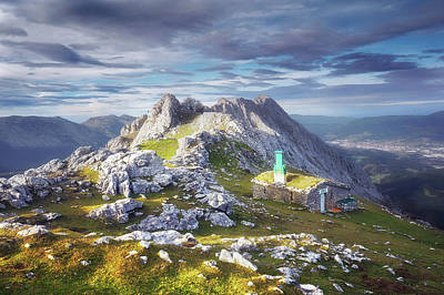 Shelter In The Top Of Urkiola Mountains Art Print