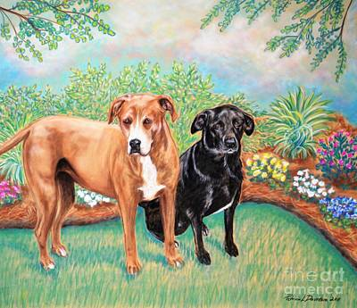 Shelter Rescued And Loved Art Print by Patricia L Davidson