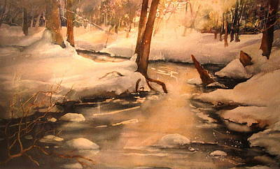 Grafton Painting - Shelter Valley Winter by Madelaine Alter